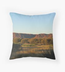 As the sun slowly sinks in the West. Carmichael Crag. K.Canyon. N.T. Throw Pillow