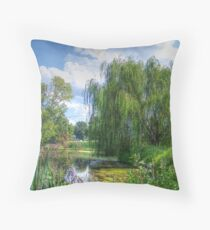Willow Beside The Lake Throw Pillow
