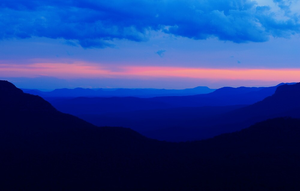 Blue Mountains Sunset by natureshues