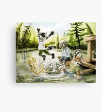 Happy innocent anarchy Canvas Print