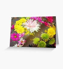 Tumbling flowers Greeting Card