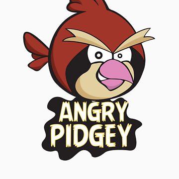 Angry Pidgey by D-Vega