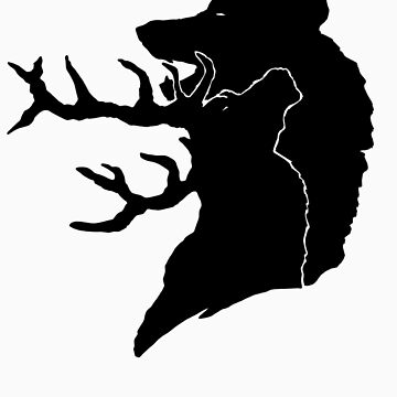 Wolf + Stag by idawgness