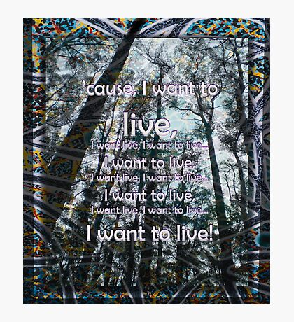 I want to live Photographic Print