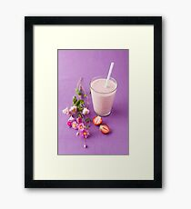 Strawberry milk shake Framed Print
