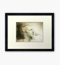 my B-day Colin portrait :) Framed Print