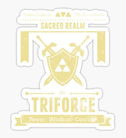 Sacred Realm Triforce Sticker
