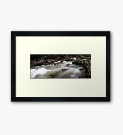 Downstream Race Framed Print