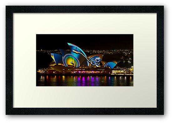Record Sails - Sydney Vivid Festival - Sydney Opera House by Bryan Freeman