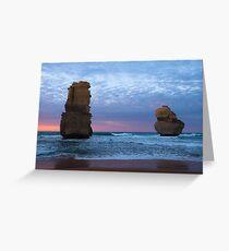 Ocean Pillars Greeting Card