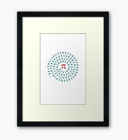 Circumference Pi VRS2 Framed Print