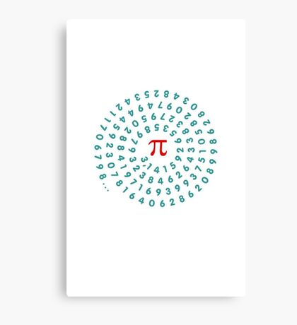 Circumference Pi VRS2 Canvas Print