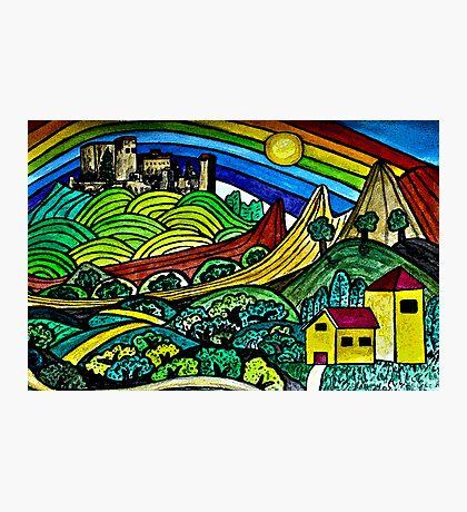 The Castles Rainbow Photographic Print