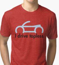 VW Convertible - I drive topless® - light blue Tri-blend T-Shirt