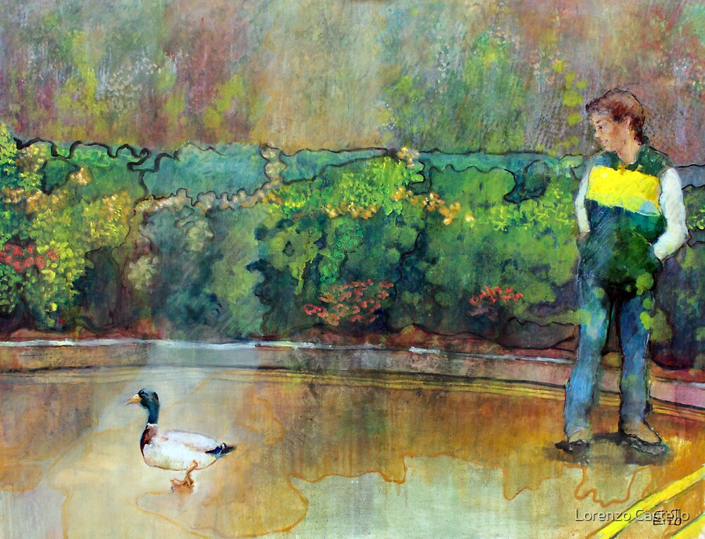 The duck over the hedge by Lorenzo Castello