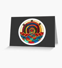 Music Hall Card w/grey Greeting Card