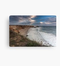 Dusk Hole in the Wall Beach - Santa Cruz Canvas Print