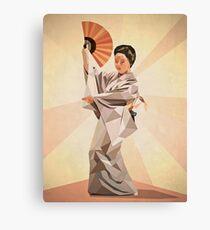 polygonal japanese dancer Canvas Print