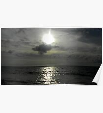 Sunset - Kuta Beach , Bali ,Indonesia  Poster