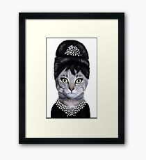 Cat Princess Framed Print