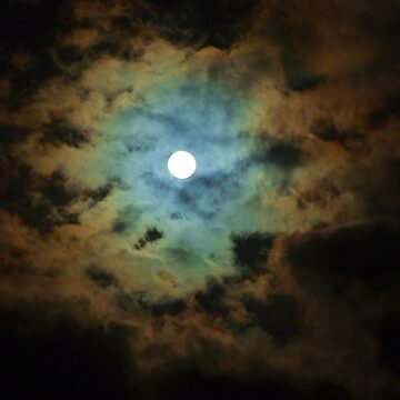 Full Moon Skyscape May 2013 by clarecam