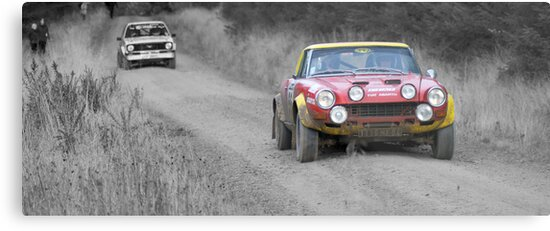 Fiat 124 Abarth Rally Car Splash Of Colour Metal Prints By Thomas