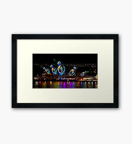 Headphone Sails - Sydney Vivid Festival - Sydney Opera House Framed Print