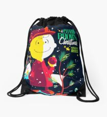 Charlie Christmas Drawstring Bag