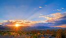 Sunset Over the Salt Lake Valley by RedskinzFan