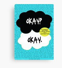 The fault in our stars. Canvas Print