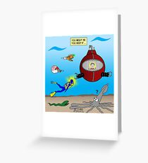 SCUBA Diving Too Deep Greeting Card