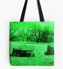 Neon Green Boulders Tote Bag