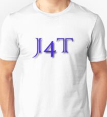J4T in Blue Lettering Unisex T-Shirt