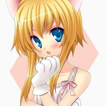 anime cat girl by rsigim