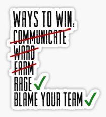 Ways To Win Sticker