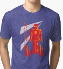 Russian Robot Shirt Tri-blend T-Shirt