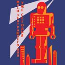 Russian Robot Shirt by thedailyrobot