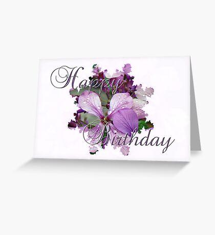 Happy Birthday Greeting Card - Purple Luneria Greeting Card