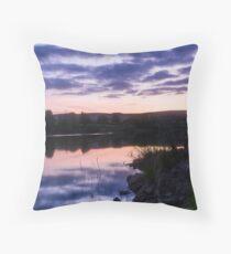 Reflections on Damflask Throw Pillow