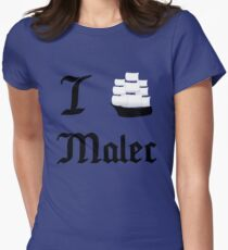 I Ship Malec Women's Fitted T-Shirt