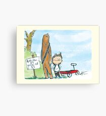 Chewbacca and Han Solo Canvas Print