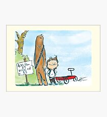 Chewbacca and Han Solo Photographic Print