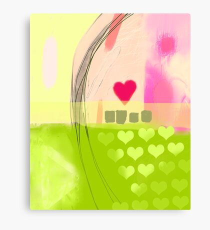Corner of pink heart Canvas Print