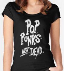 Pop Punks not dead Women's Fitted Scoop T-Shirt