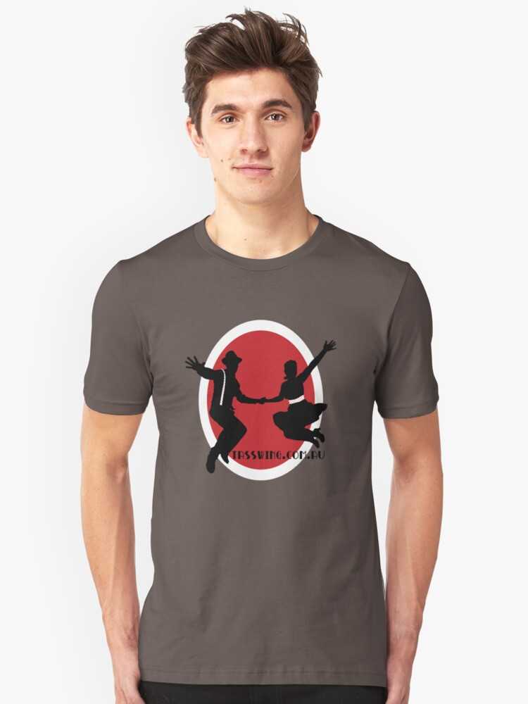 Tasswing Tee - With red & white circle Unisex T-Shirt Front