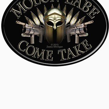 Molon Labe Come Take by Zesko