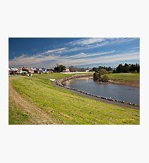 Hunter River  behind City Centre -Maitland NSW Australia Photographic Print
