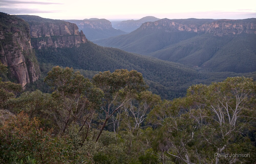 Leap of Faith - Govetts Leap - Blackheath NSW - The HDR Experience by Philip Johnson