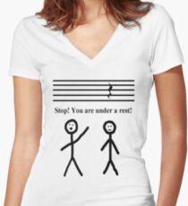 Funny Music Joke T-Shirt Women's Fitted V-Neck T-Shirt
