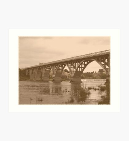 Winchester Oregon Historic Bridge (available in ipad case) Art Print